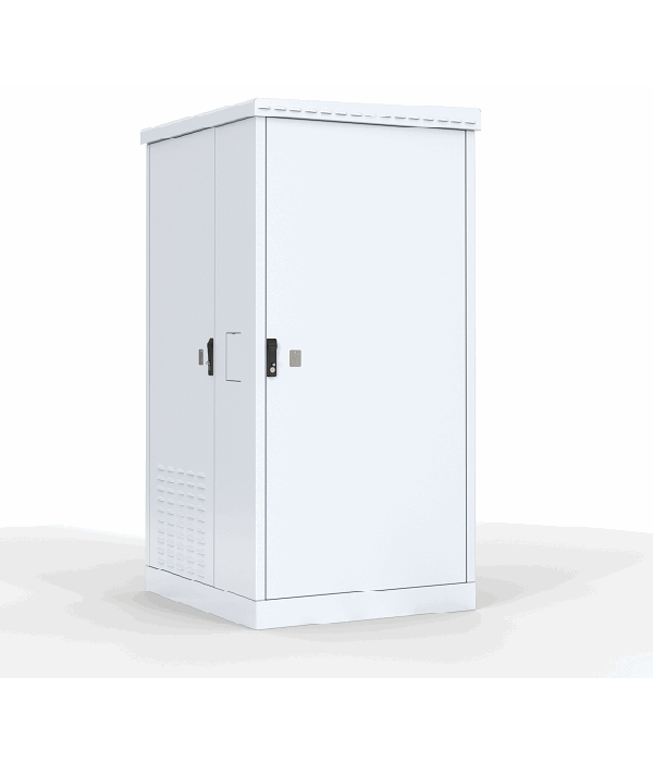 ЦМО! Шкаф уличный всепогодный напольный 18U (Ш1000 х Г600) с электроотсеком, три двери (ШТВ-2-18.10.6-43А3) - Телекоммуникационные шкафы, ящики