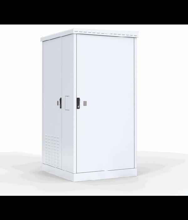 ЦМО! Шкаф уличный всепогодный напольный 24U (Ш1000 х Г600) с электроотсеком, три двери (ШТВ-2-24.10.6-43А3) - Телекоммуникационные шкафы, ящики
