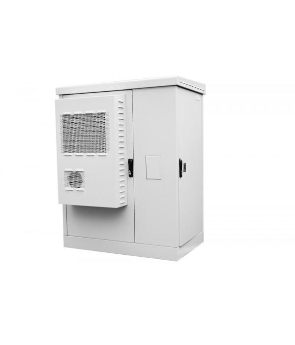 ЦМО! Шкаф всепогодный напольный укомплектованный 24U (Ш1000хГ600) с эл. отсеком, комплектация ТК-IP54 (ШТВ-2-24.10.6-К3А3-ТК) - Телекоммуникационные шкафы, ящики