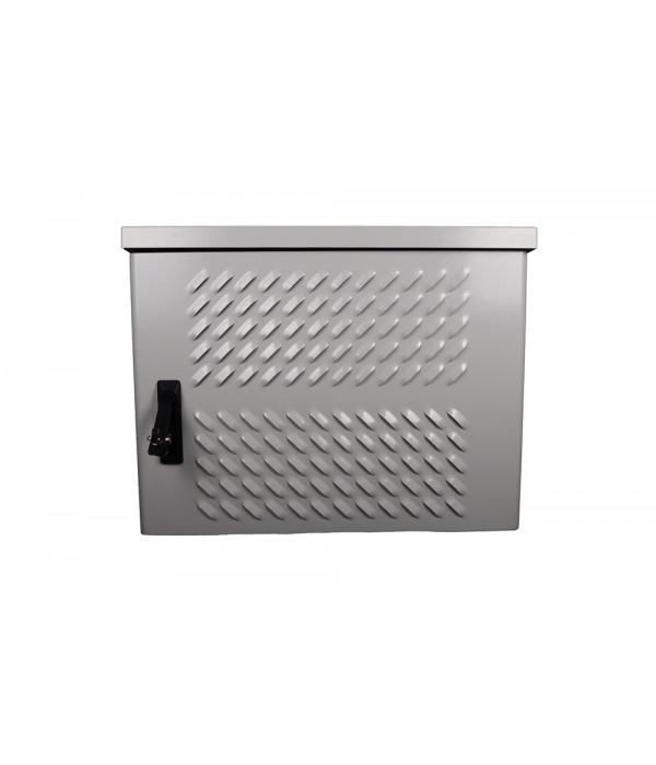 ЦМО Шкаф уличный всепогодный настен. 9U (600х300), передняя дверь вент. (ШТВ-Н-9.6.3-4ААА) - Телекоммуникационные шкафы, ящики