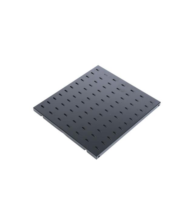 ЦМО Полка перфорированная грузоподъёмностью 100 кг., глубина 580 мм, цвет черный (СВ-58У-9005) - Аксессуар для коммуникационных шкафов