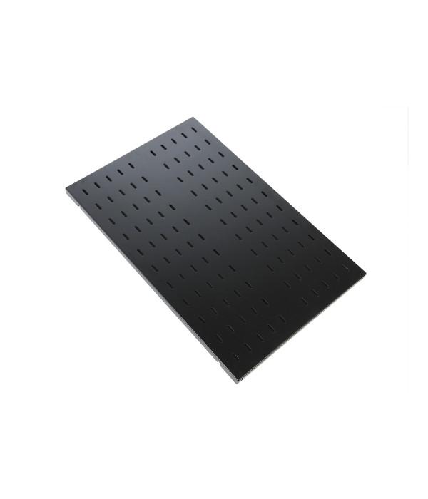 ЦМО Полка перфорированная грузоподъёмностью 100 кг., глубина 750 мм, цвет черный (СВ-75У-9005) - Аксессуар для коммуникационных шкафов