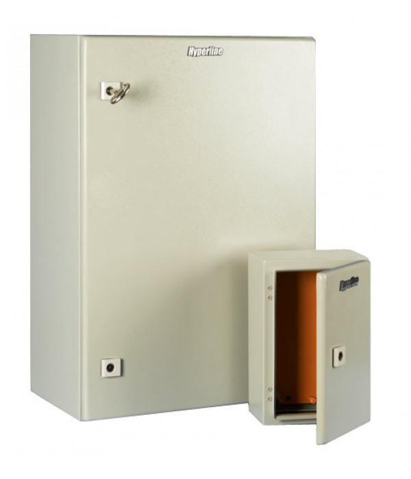 Hyperline TECL-1060 Шкаф электрический 600х600х210 (ВхШхГ), c монтажной панелью и креплением на стену, IP55, RAL 7032 -