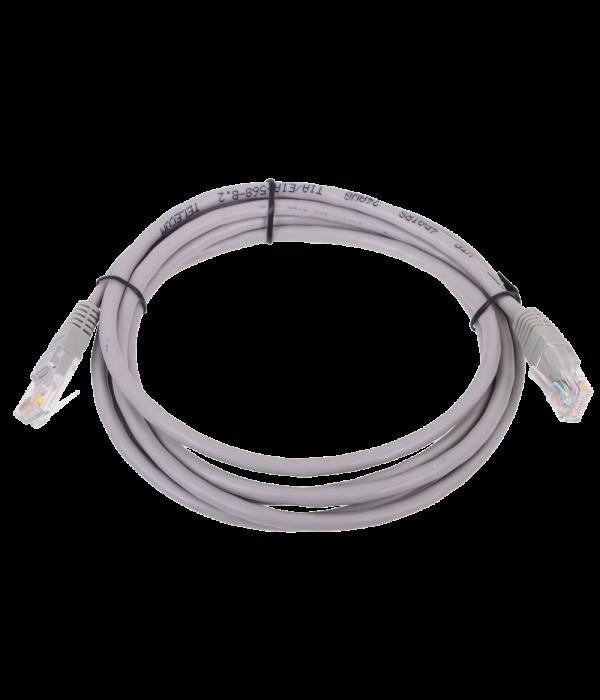 Патчкорд литой  Telecom NA102--2M UTP CAT5E серый 2M - Патчкорд медный