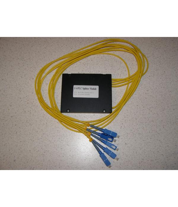 Модульный PLC сплиттер 1х4 - Оптические разветвитель (Сплиттер)