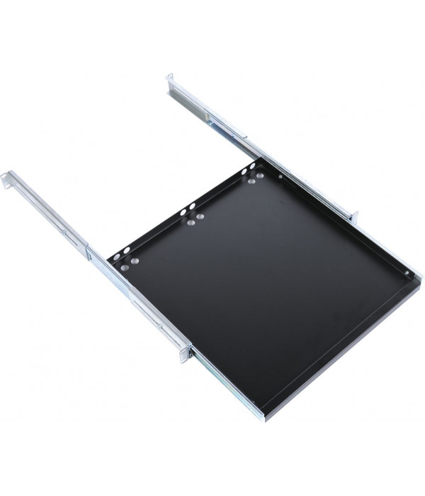 ЦМО Полка клавиатурная с телескопич. направляющими, регул. глубина 580-620 мм, цвет черный (ТСВ-К4-9005) - Аксессуар для коммуникационных шкафов
