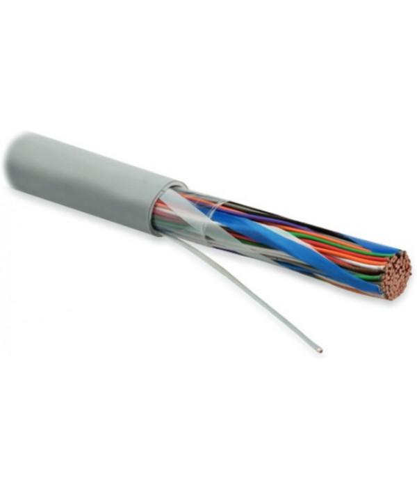 Hyperline UUTP50-C3-S24-IN-LSZH-GY (UTP50-C3-SOLID-INDOOR-LSZH) Кабель витая пара, неэкранированная U/UTP, категория 3, 50 пар (24 AWG), одножильный (solid), LSZH нг(А)-HF, -20°C до +60°C, серый - LAN Кабель