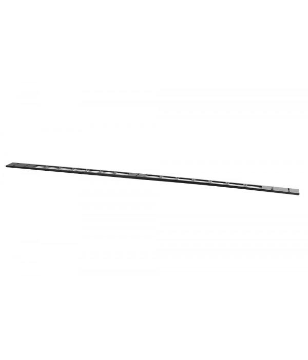 ЦМО Вертикальный кабельный органайзер в шкаф, ширина 75 мм 18U, цвет черный  (ВКО-М-18.75-9005) - Кабельный организатор